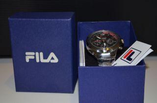 Fila Fa0795 - 35 Orginal Herrenuhr Chronograph Analog Edelstahl Tachymeter Bild