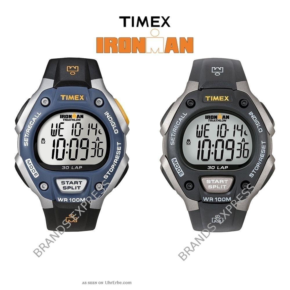 Timex Ironman Armbanduhr Digital Chronograph 30 Runden Blau Grau Armbanduhren Bild