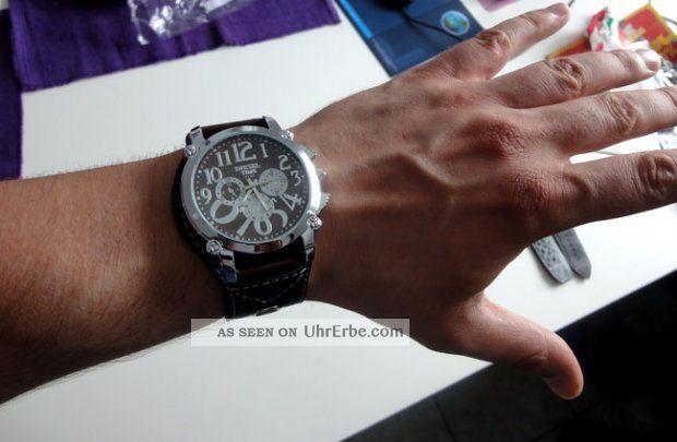 Armbanduhr Herren Damen Schwarz Mit Kunst - Lederarmband Diesel Time Armbanduhren Bild