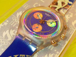 Swatch Chrono London In & Ovp,  Neuer Batterie Scz102 Bild