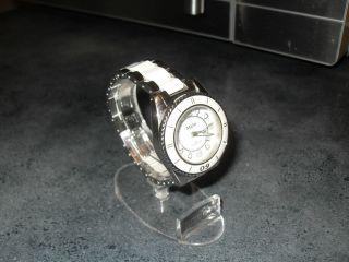 M&m Damenuhr Keramikuhr Edelstahl Drehlünette Armbanduhr Bild