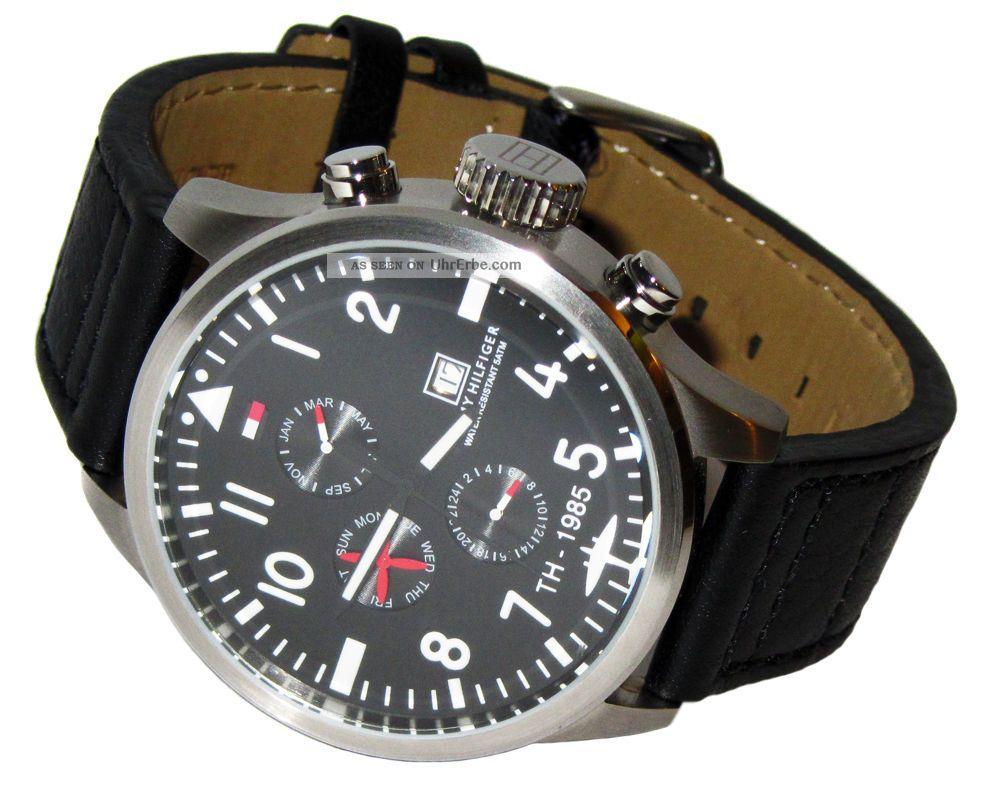 Tommy Hilfiger Watch Uhr Herrenuhr Uhren Chronograph Mit Box Black - - - - Armbanduhren Bild