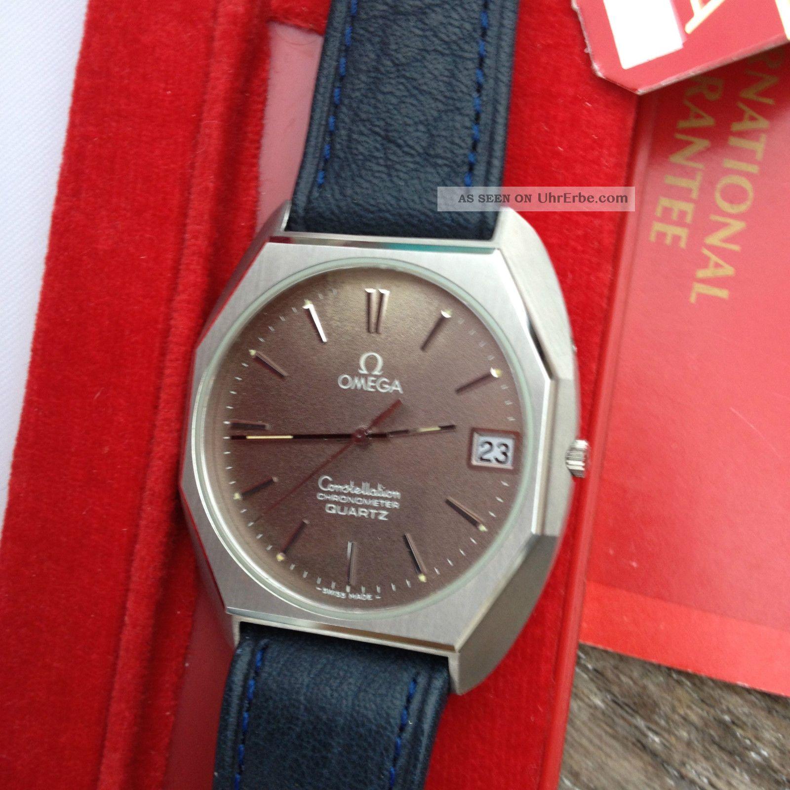 Omega Constellation 1333 Vintage/nos Ungetragen Box/garantieheft Armbanduhren Bild