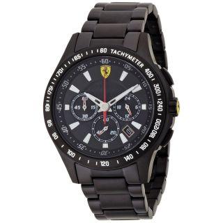Ferrari 0830046 Herren ' S Scuderia Chronograph Schwarz Ip Stahl Armbanduhr Bild