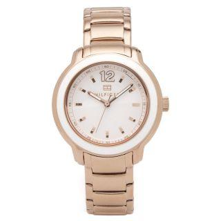 Damen Armbanduhr Tommy Hilfiger Callie Rose Gold Stahl Armband Weiß Zb 1781420 Bild
