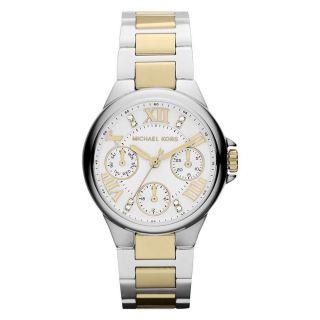 Armbanduhr Michael Kors Mk5760 Damen Camille Weiß Zweifarbig Vergoldet Stahl Bild