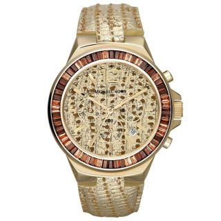 Uhr Michael Kors Mk2304 Frauen Gramercy Chronograph Eidechse Geprägt Uhr Bild