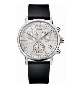 Calvin Klein Apost Minimal Herren Lederarmband Uhr K7627120 Bild