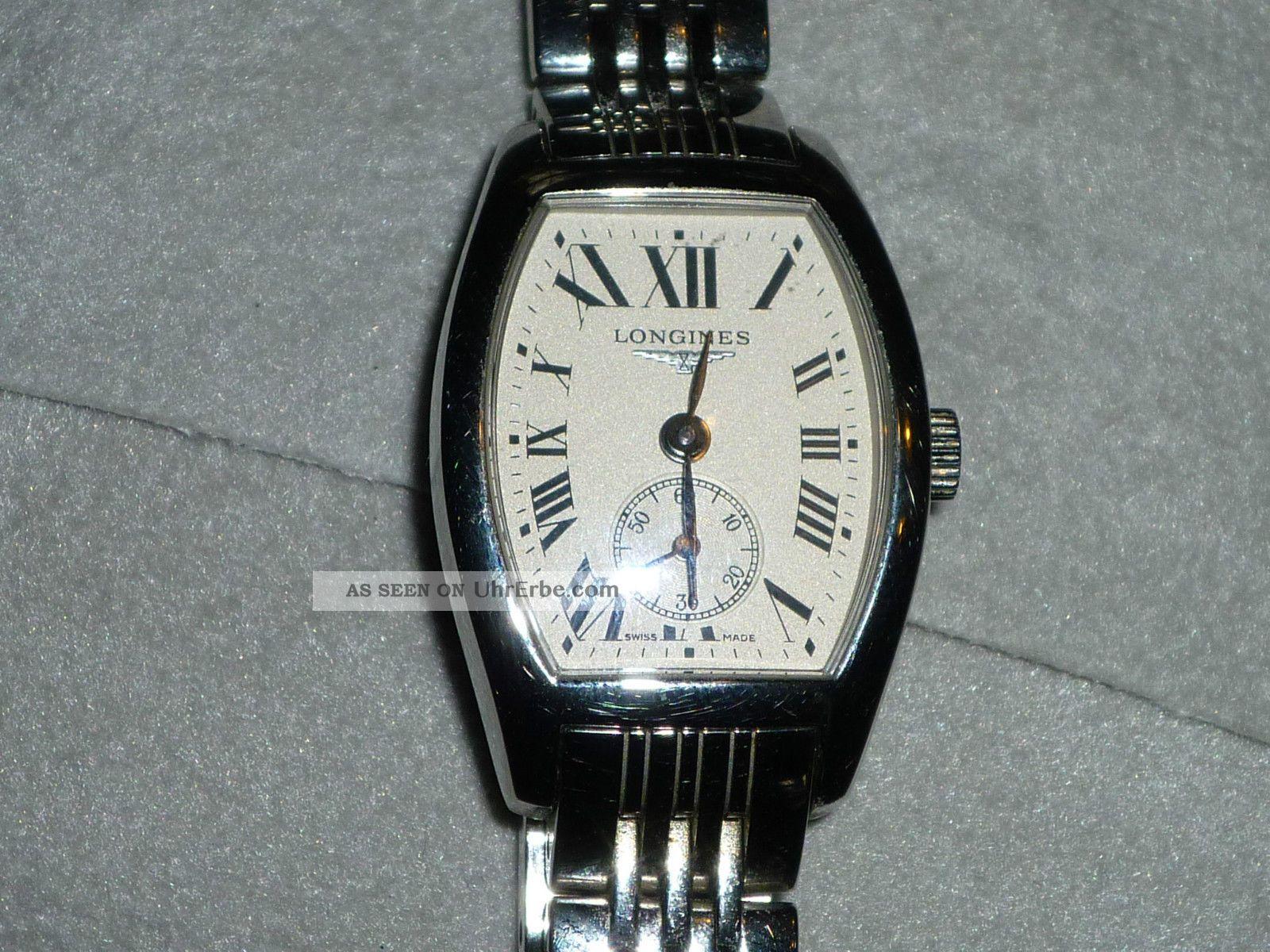 Longines Evidenza Damenarmbanduhr,  Römisches Ziffernblatt,  Garantieschein,  Box Armbanduhren Bild