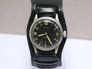 ❶ Militär Dienstuhr Zenith Aus Dem 2wk (ww2) D.  8399641h.  German Men ' S Wrist Watch Bild
