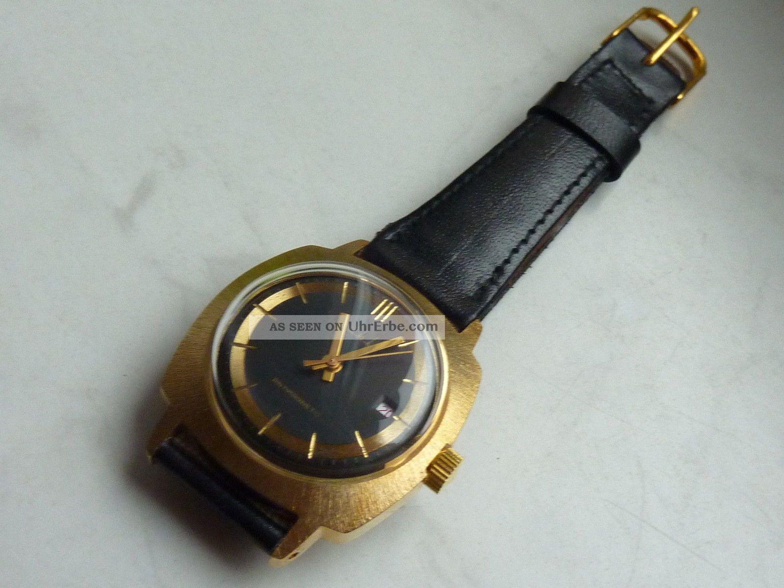 Ruhla Uhr Herrenuhr,  Ungetragen,  Vintage Ddr,  70er 80er Jahre,  Nos Armbanduhren Bild