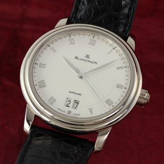Blancpain Leman Grande Date 18k Weissgold Automatik Herrenuhr Vp: 16320,  - E Bild