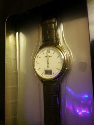 Ascot Funkarmbanduhr Armbanduhr Uhr Radio Controlled Schwarz Edelstahlgehäuse Bild
