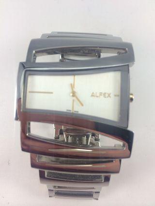 Alfex Damen Uhr Quarz 5616 Plum Design Swiss Made Edelstahl Bild