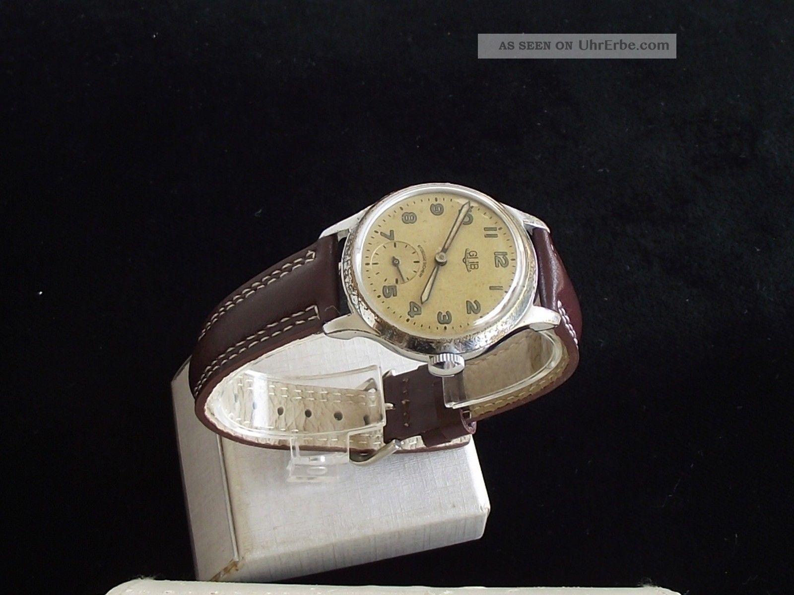 Schöne,  Klassische Glashütte Gub Kal.  60 Herrenuhr Armbanduhren Bild