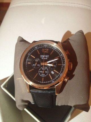 Esprit Uhr Herrenuhr Menlo Chrono Rose Gold Es106351004 Armbanduhr Bild