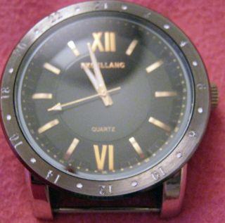 Große Silberne Herren Armbanduhr Japan Movt Quartz