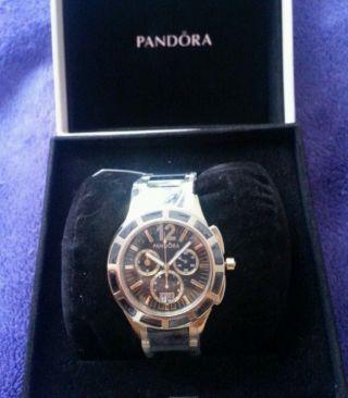 Pandora Uhr Chronograph Keramik Pvd Beschichtet Vergoldet Bild