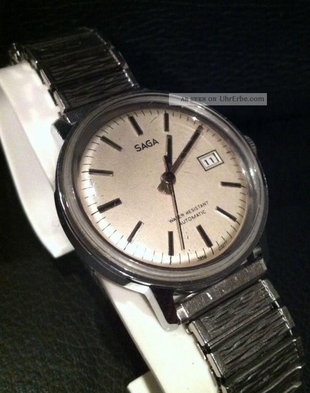 Timex Saga Automatic Vintage Herrenarmbanduhr Läuft Armbanduhren Bild