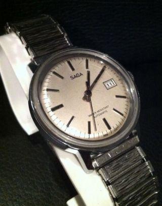 Timex Saga Automatic Vintage Herrenarmbanduhr Läuft Bild