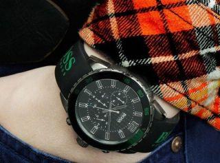 Hugo Boss Uhr Herrenuhr Chronograph Kautschuk Chrono Schwarz Ovp 1512847 Bild