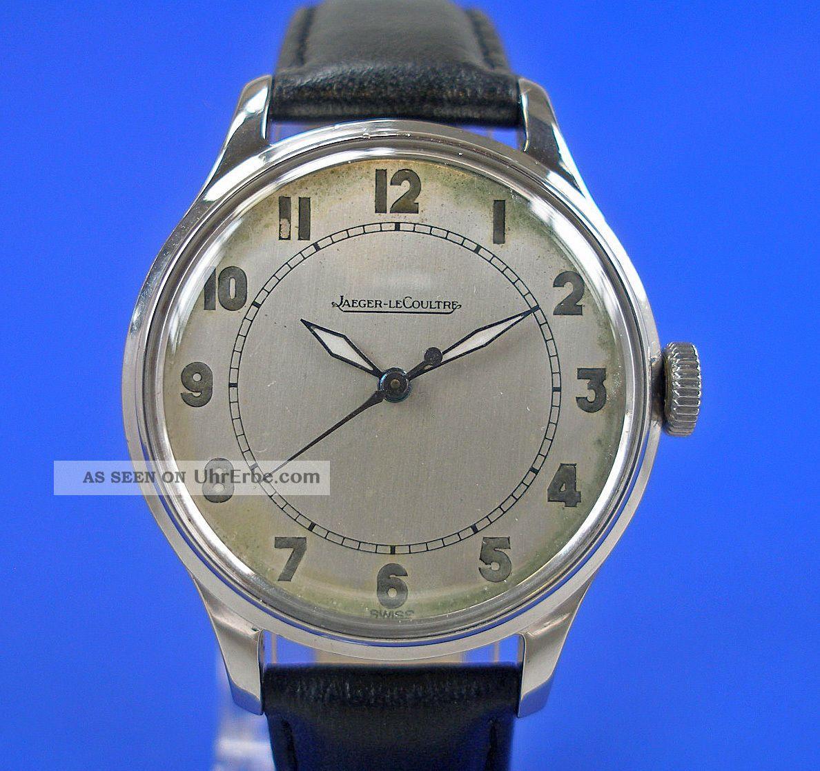Jaeger Le Coultre Armbanduhr Luxus Herren Uhr Um 1958 Edelstahl P 478 Watch Armbanduhren Bild