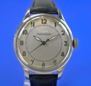 Jaeger Le Coultre Armbanduhr Luxus Herren Uhr Um 1958 Edelstahl P 478 Watch Bild