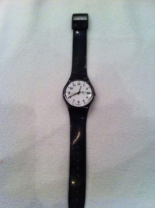 Swatch Uhr Unisex Schwarz Bild