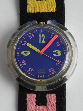 Pop Swatch Uhr Aus Den Späten 80er Jahren,  Läuft Aber Sehr Genau Bild