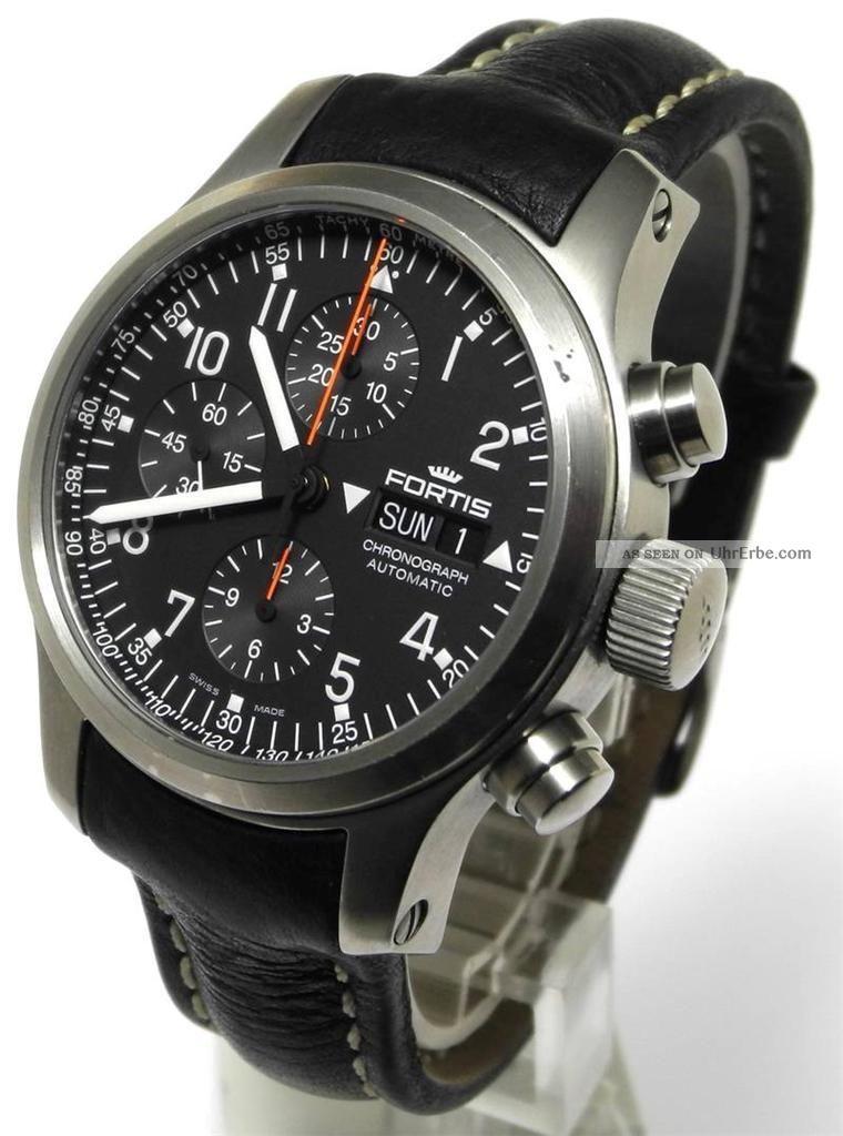 Fortis B42 Professional Flieger Chronograph Automatic Edelstahl Armbanduhren Bild