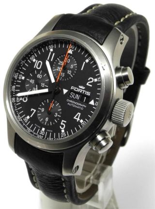 Fortis B42 Professional Flieger Chronograph Automatic Edelstahl Bild