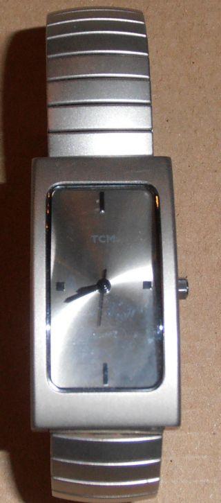 Damen - Armbanduhr - Tcm Silber/metallic - Silbernes Zifferblatt Ohne Ziffern Bild