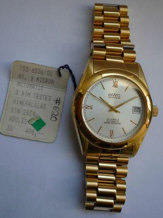 Bwc Armbanduhr Aus Geschäftsauflösung Wie Mit Etikett Bild