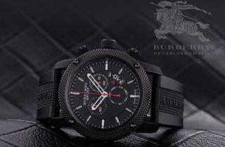 Burberry Herren Sport Uhr Bu7701 Endurance Black Chronograph Bild