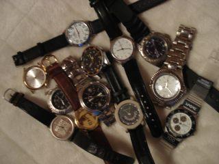 Uhren Sammlung 12 X Herrenuhr Zum Tragen,  Sammeln Und Basteln (ungeprüft) Bild