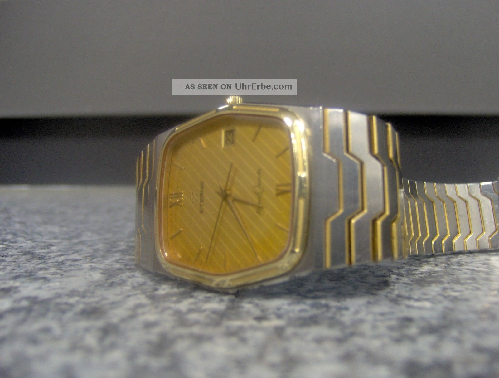 Eterna Royal Quartz Herrenuhr Uhr Armbanduhr Bicolour Armbanduhren Bild