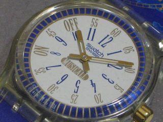 Swatch Musicall Call Up Slk105 Herren - Armbanduhr Alarm Batt.  Ovp Top Bild