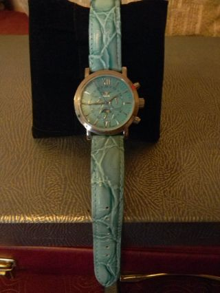 Minoir Damen Automatc Armbanduhr In Grün - Neuwertig Bild