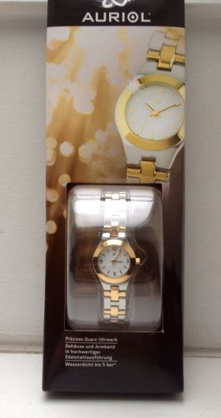 Damen Uhr Armbanduhr Silber Gold Wunderschön Neu&ovp Hochwertiges Edelstahl Bild