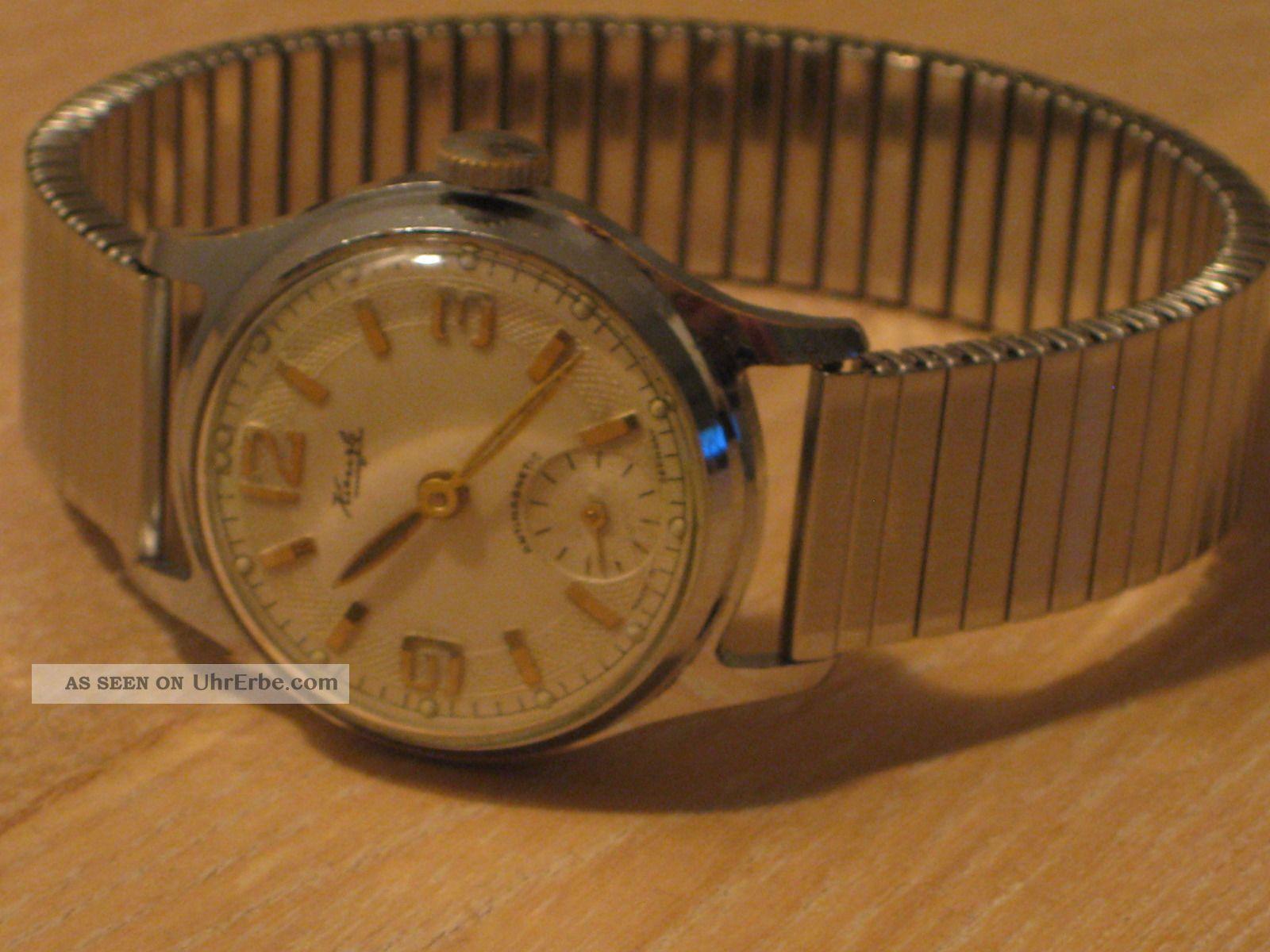 Kienzle Herrenarmbanduhr,  Handaufzug 50er Jahre,  Kleine Sekunde Armbanduhren Bild