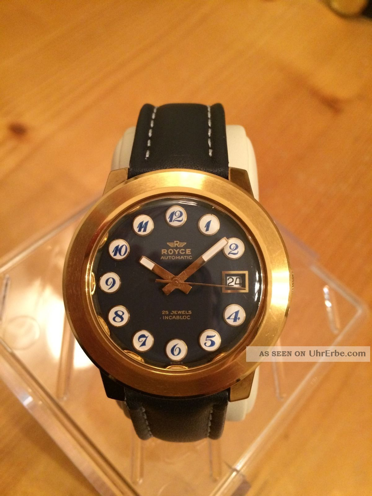 Tiefblaue Schönheit: Royce Automatik Im Bestzustand Armbanduhren Bild