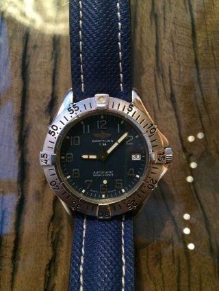 Breitling Colt Automatik Ll Herren Uhr 37mm Stahl/stahl Blau Bild