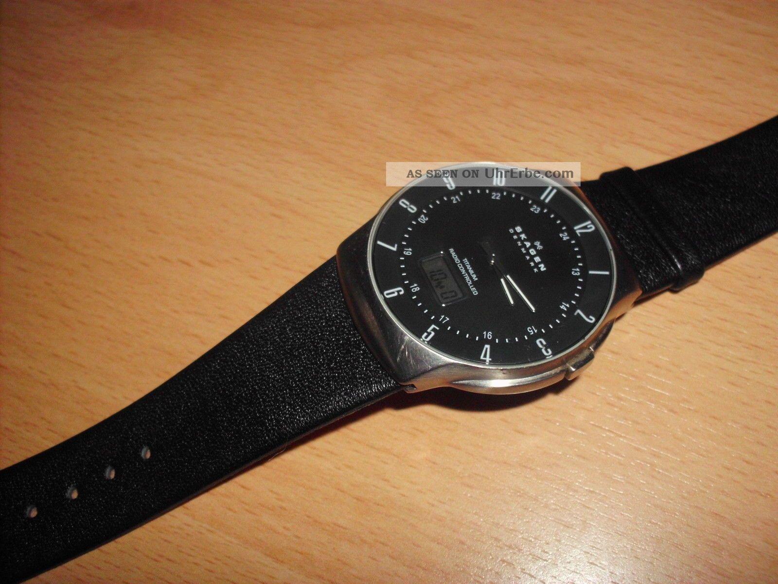 Skagen 732xltlm - G Titan Funkuhr Herren - Armbanduhr,  Radio Controlled,  Fast Armbanduhren Bild
