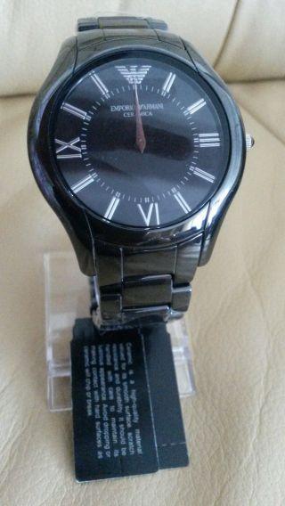 Emporio Armani Herren Uhr Schwarz Ceramica Keramik Armbanduhr Ar1440 Bild