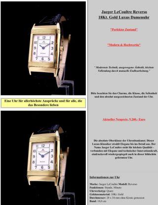Jaeger - Lecoultre Reverso 18kt.  Gold Damenuhr Bild