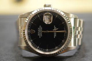Rolex Oyster Perpetual Datejust Ref.  16234 Stahl Automatic Chronometer Schwarz Bild