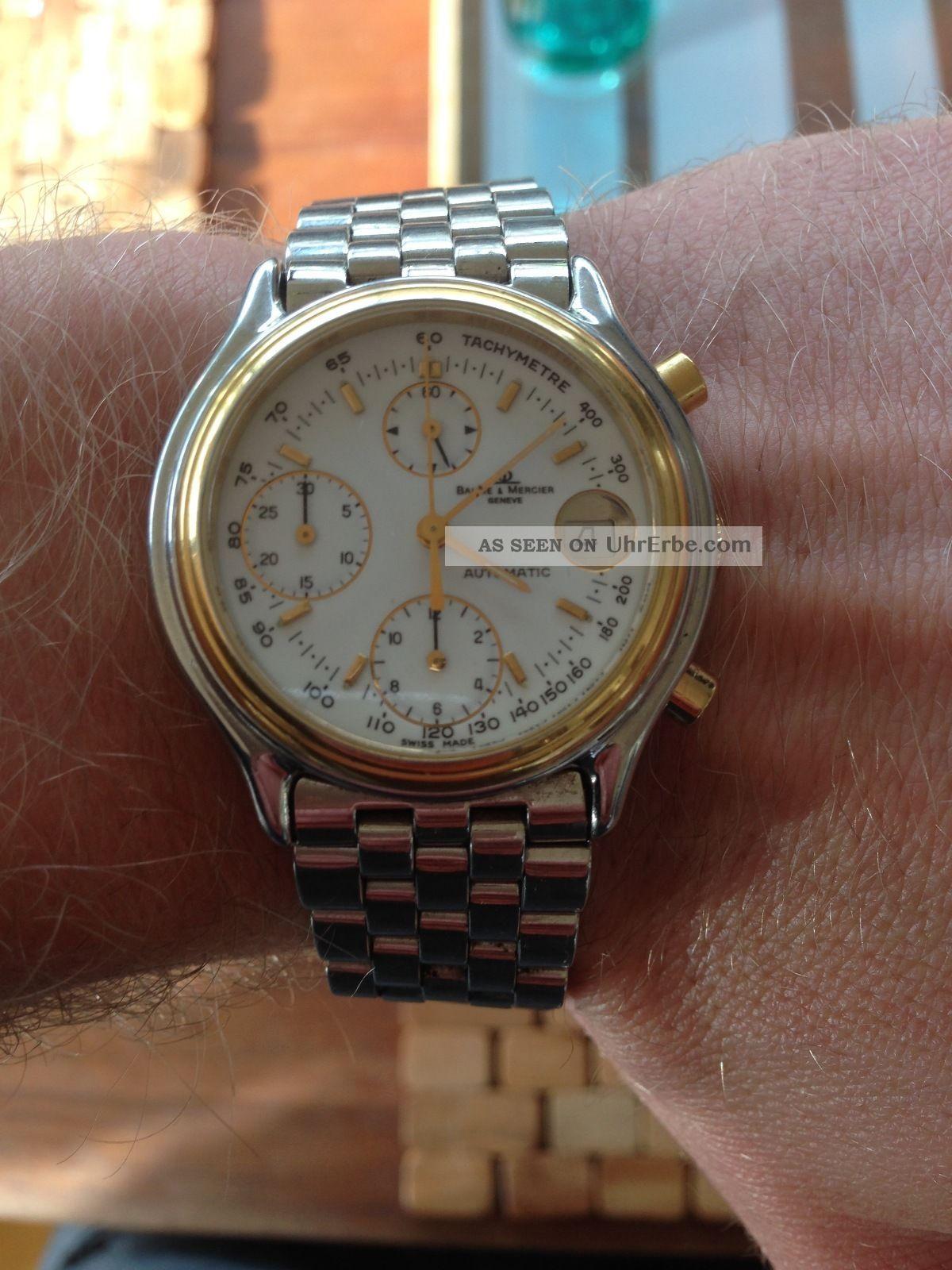 Baume & Mercier Baumatic Chronograph Gold Armbanduhren Bild