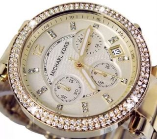 Michael Kors Mk5354 Armbanduhr Für Damen Gold Bild