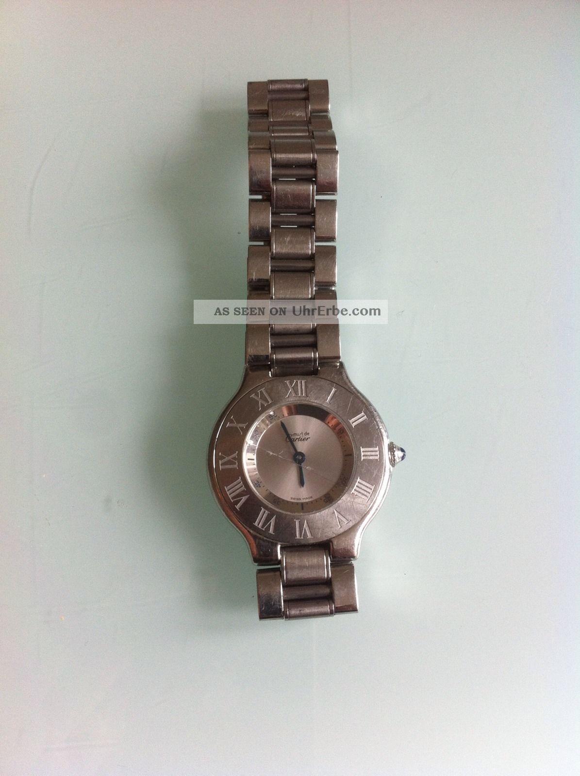 Cartier Damenuhr Must 21 Armbanduhren Bild