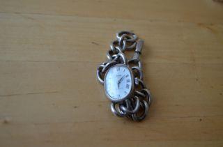 Klassische Damenuhr Uhr Armbanduhr Rivado Silber 835 Alt Handaufzug Mechanisch Bild
